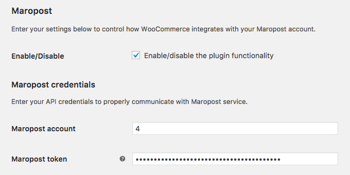 WooPosto - Simple Maropost integration for WooCommerce 1